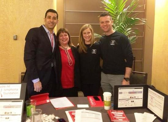 """Staffing the """"booth"""" at the Lymphoma Research Foundation patient conference in Chicago."""