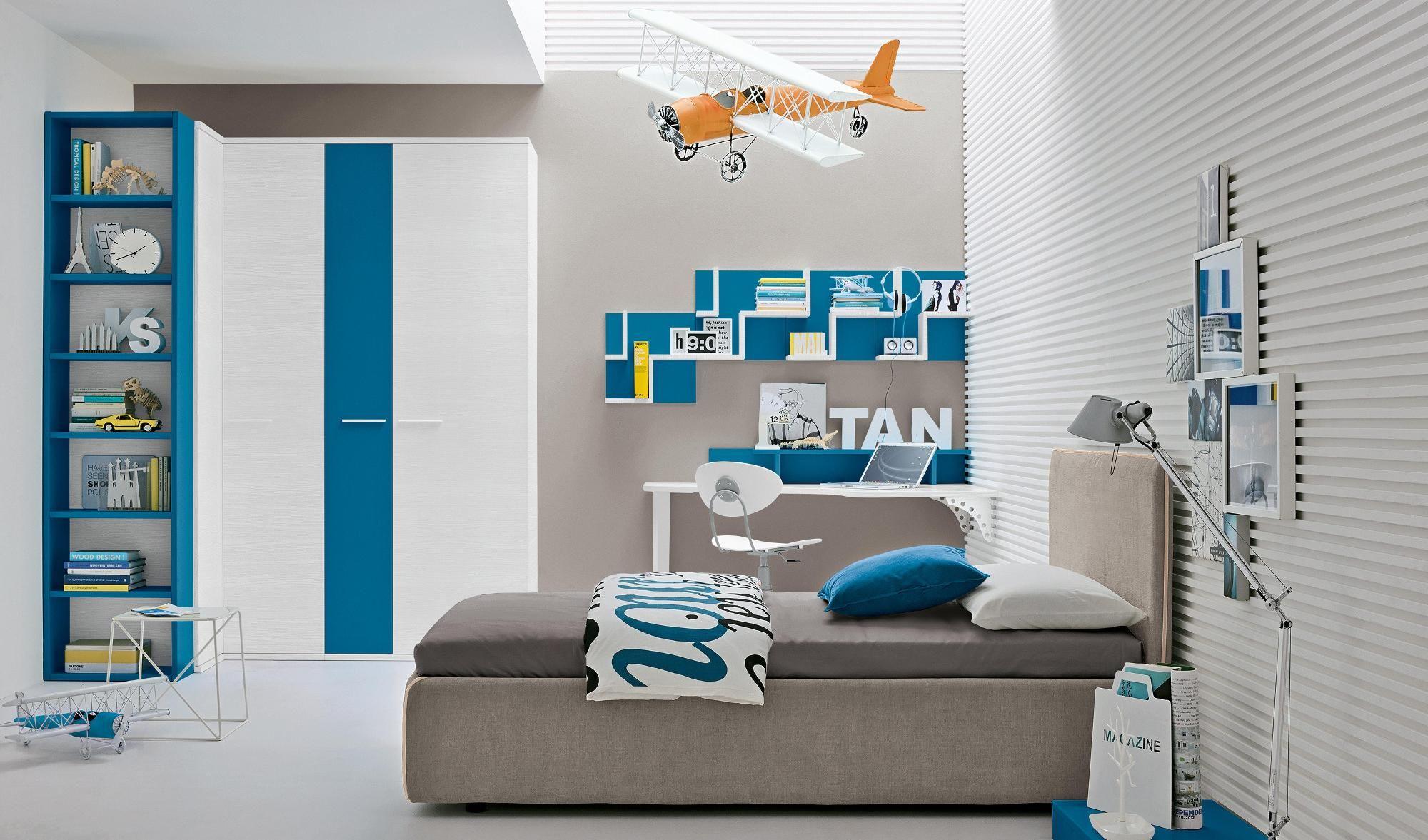 Finiture bianco e blu Arredo camere da letto per bambini e camerette ...