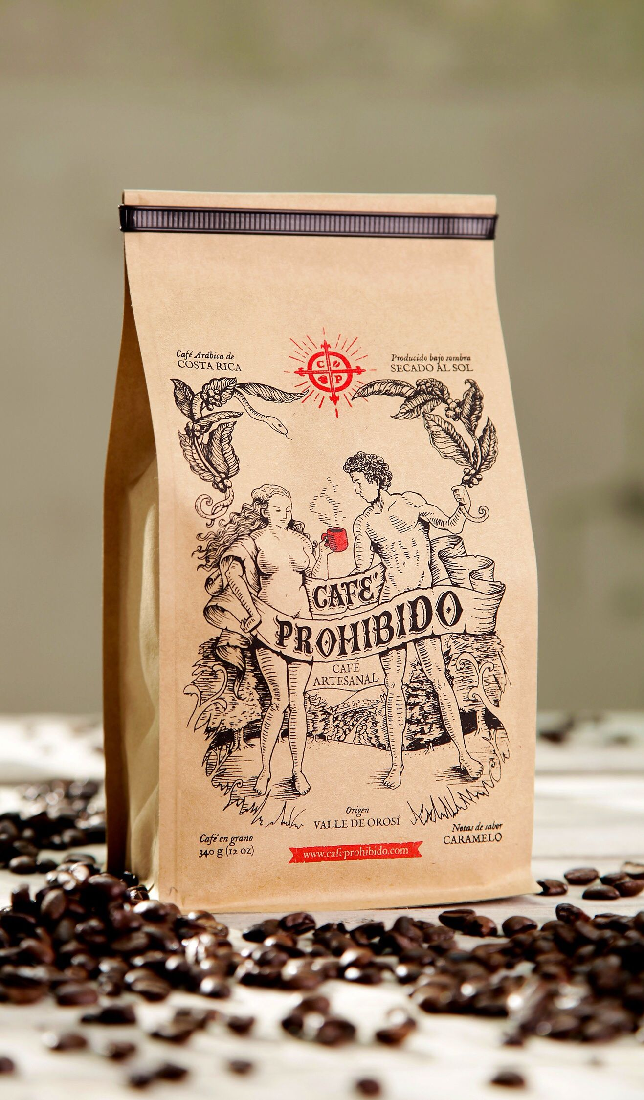 Forbidden Coffee Coffee packaging, Coffee bag design