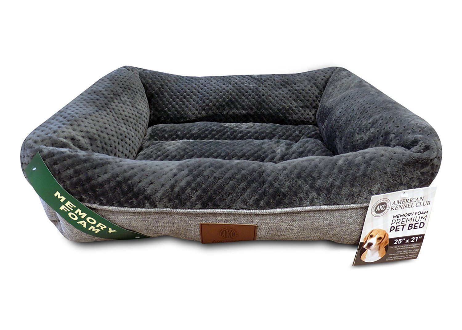 American Kennel Club Memory Foam Cuddler Pet Bed For More
