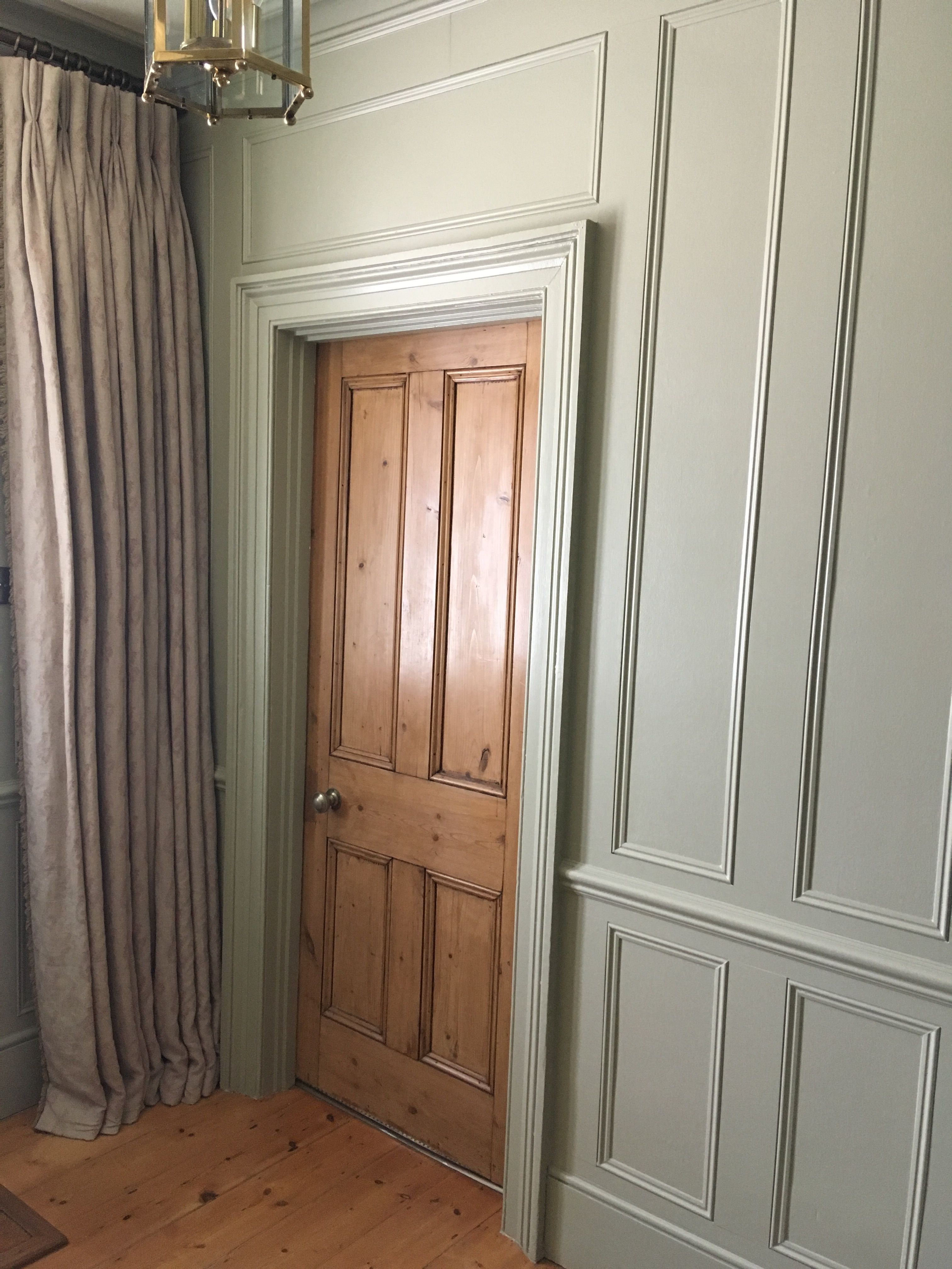 Best Farrow Ball French Gray Panelled Hallway Hallway 640 x 480