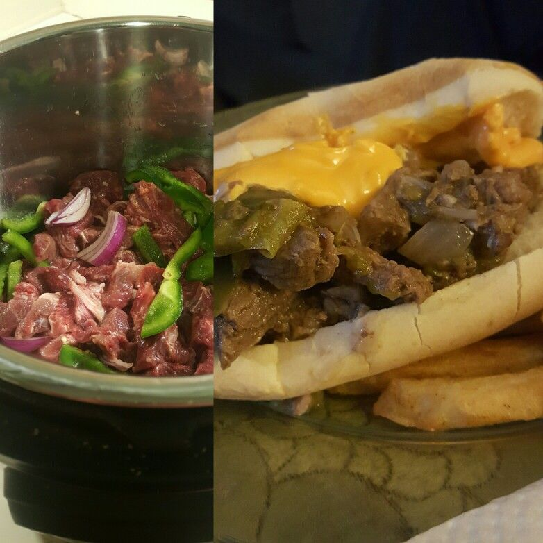 Instant Pot Philly Cheese Steaks Slice Partially Frozen Sirloin Steaks Into Thin Slices Slice 1 Red Onion Instant Pot Recipes Instapot Recipes Au Jus Recipe