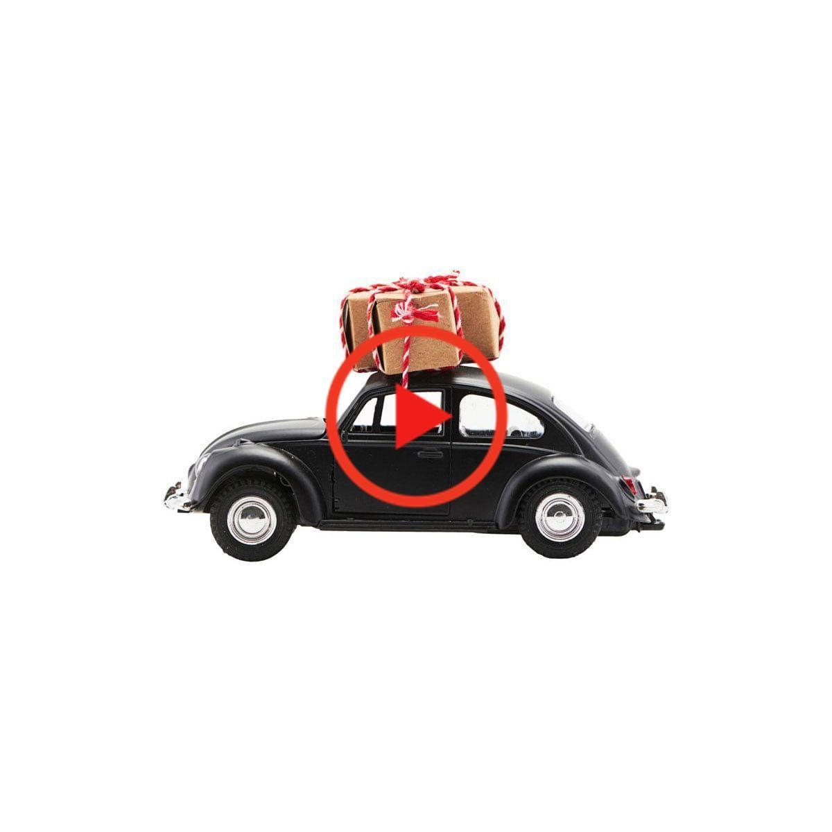 House Doctor Xmas Auto Decoratie Auto S 8 5 Cm Zwart Retro Auto Decoratie