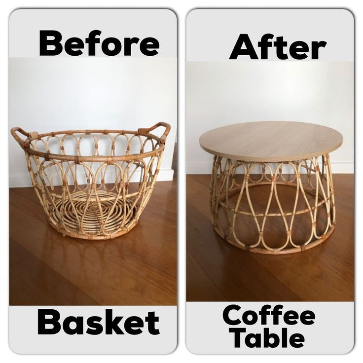 How To Make A Basket Coffee Table On A Budget Screened Front