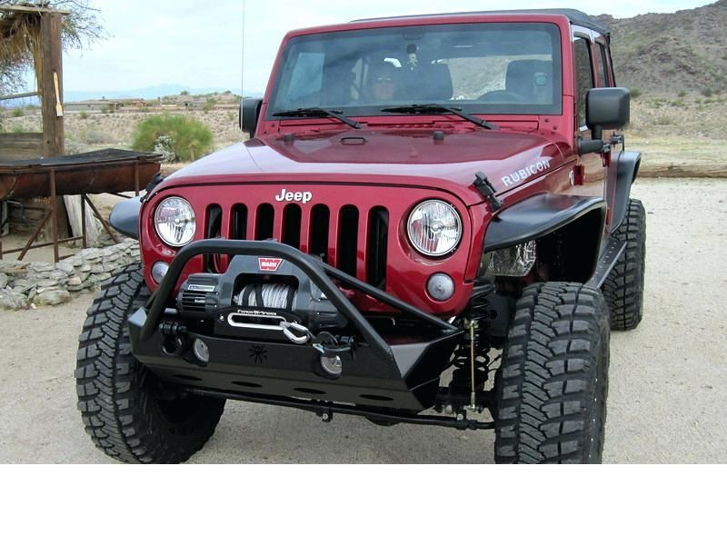 Picture Of A Jw0324 Poison Spyder Style Steel Front Winch Bull Bar Jeep Wrangler Front Bumper Jeep Parts Jeep Bumpers