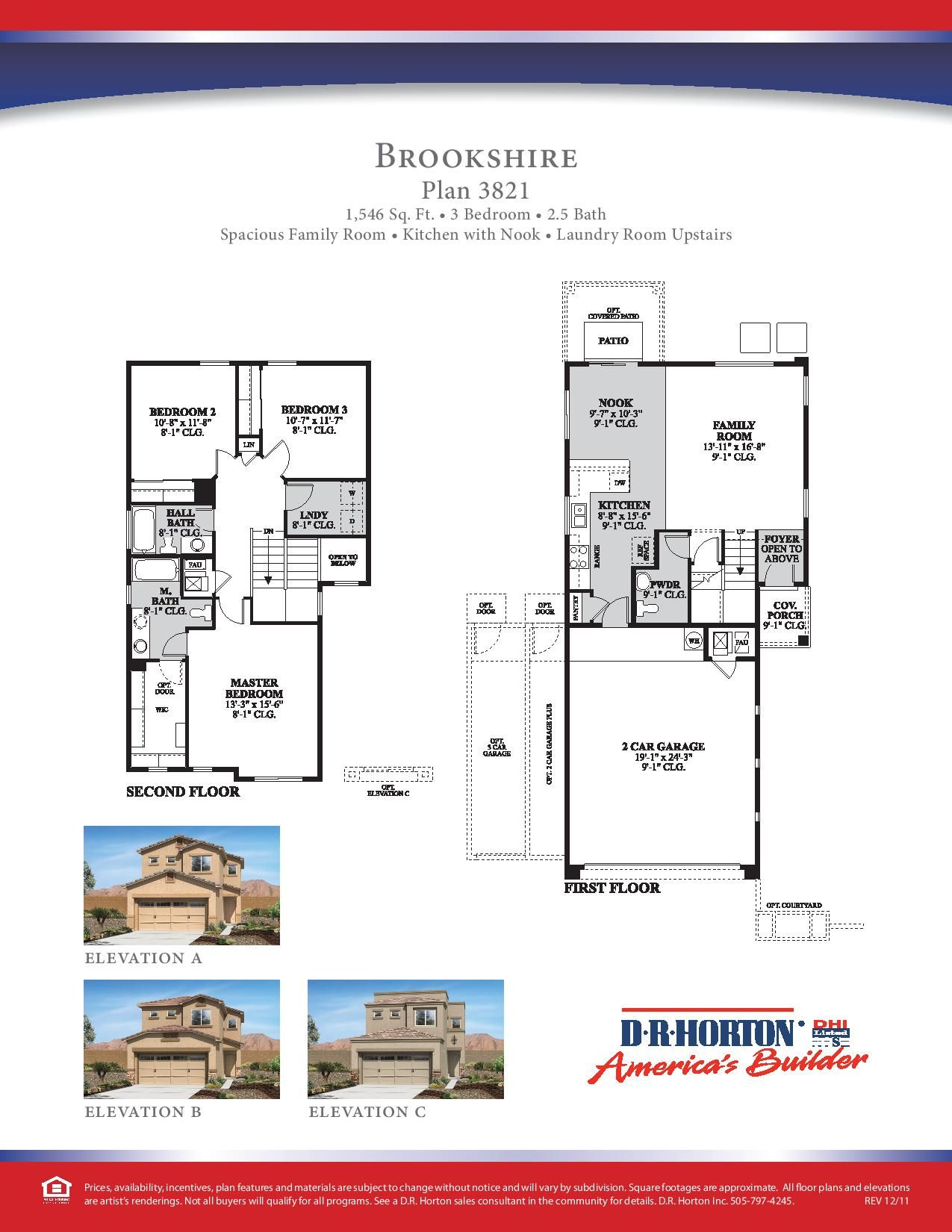 Dr Horton Brookshire Floor Plan Via