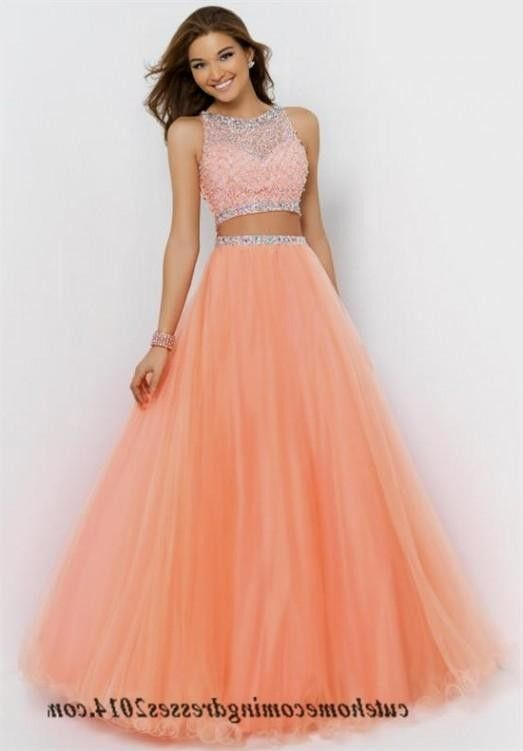 f756ccea30 two-piece orange prom dresses - Google Search