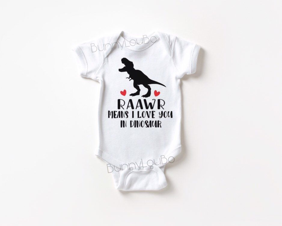 Toddler Baby Boy Girl Bodysuits Vintage Dinosaur Rawr Silhouette Toddler Jumpsuit