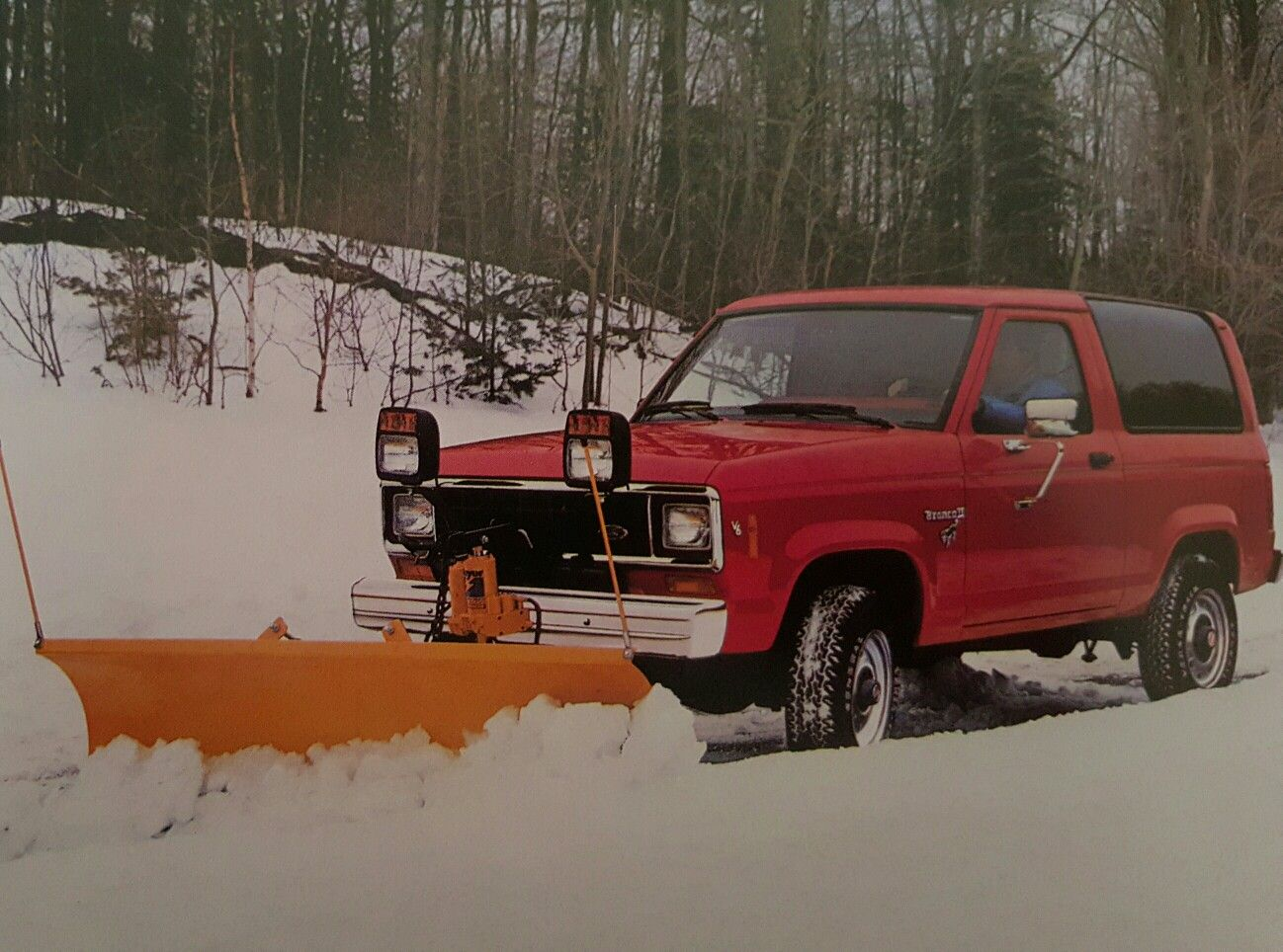 1985 Ford Bronco Ii With Snowplow Ford Bronco Bronco Ii Ford Bronco Ii