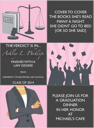 my graduation dinner invites law school commencement pinterest