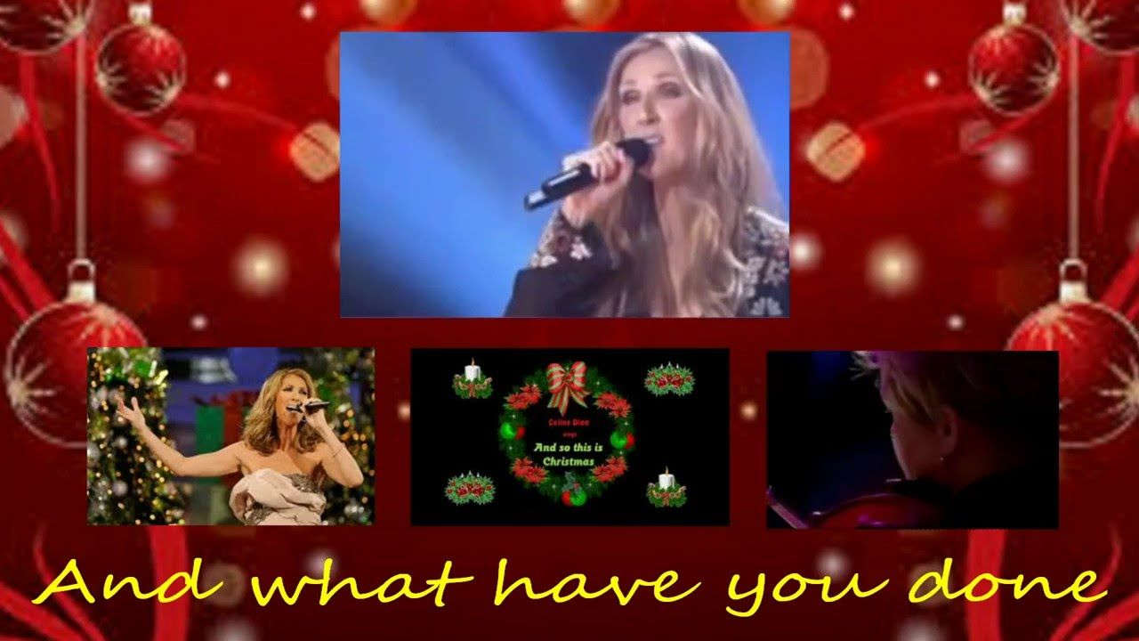 Celine Dion So This Is Christmas With Lyrics Youtube Celine Dion Lyrics Celine
