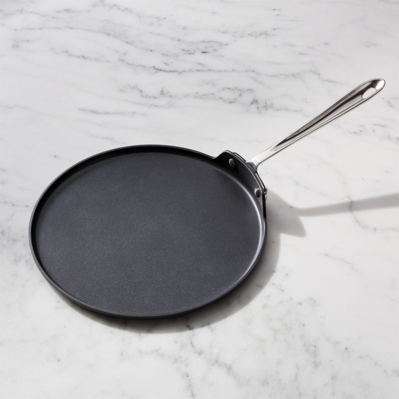 All Clad Non Stick Griddle Round Crepe Pan Crate And Barrel Griddles And Grill Pans Griddles Hard Anodized Cookware All clad non stick skillet