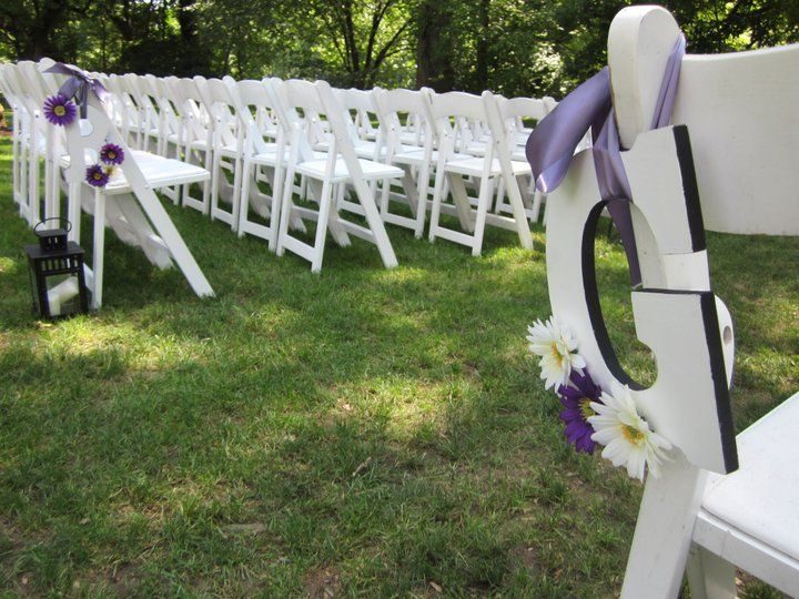 Letters to designate Bride and Groom sides
