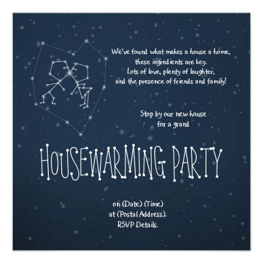 You and I are written in the stars Card Star - fresh invitation card wordings for housewarming