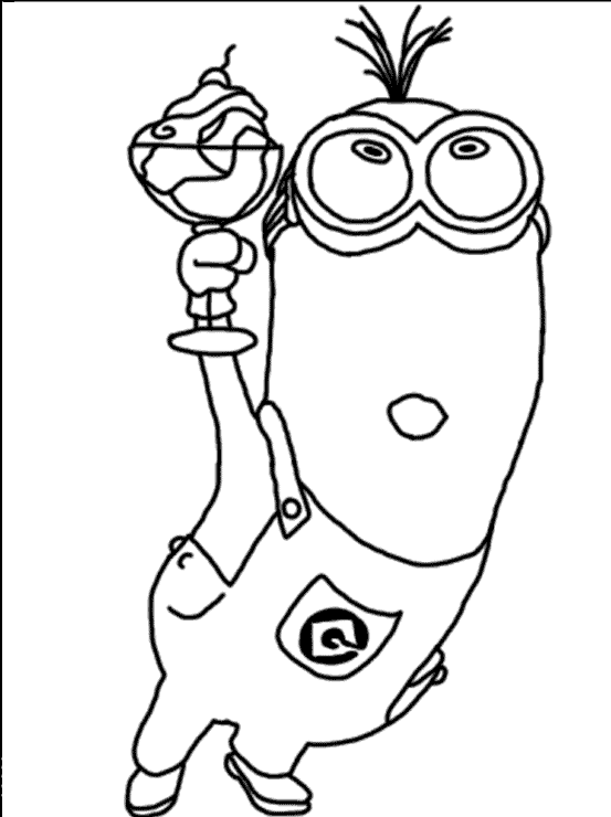 Depicable Me 2 Carry Drinks Coloring Page | Despicable Me | Pinterest