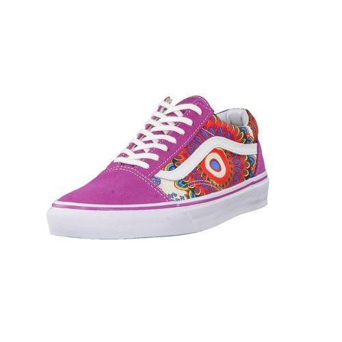 #VANS #Damen #Sneaker #Old #Skool #(Geo #Floral) #VZDFFF6 #lila - Diese Old  Skool Schuhe im Blumendesign, mit weißem Streifen entlang der Seite, ...