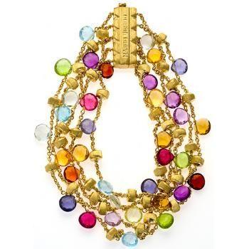 Paradise, 5 row briolette gem bracelet... so colourful, I love it.