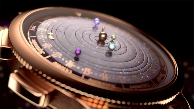 Astronomical Watch Gorgeously Depicts the Real-Time Orbits of Planets   Mental Floss UK