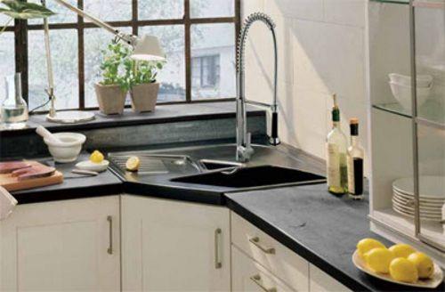 Aprovechar espacio en la cocina fregaderos en esquina for Aprovechar espacios pequenos cocina