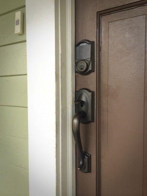 Schlage Camelot Touchscreen Deadbolt Review Front Door Hardware Door Makeover Doors