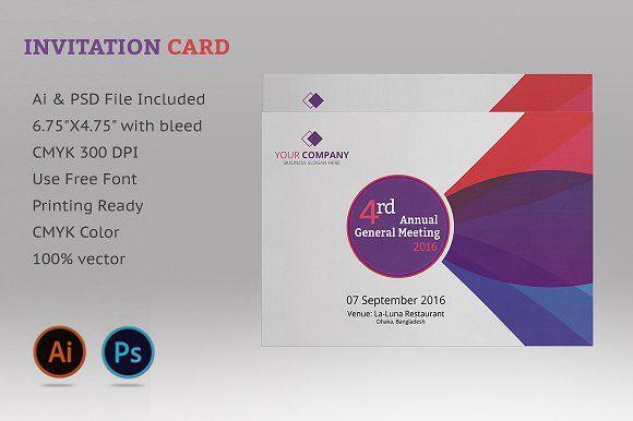 Annual Meeting Invitation Card Invitation Cards Invitation Card Design Invitations