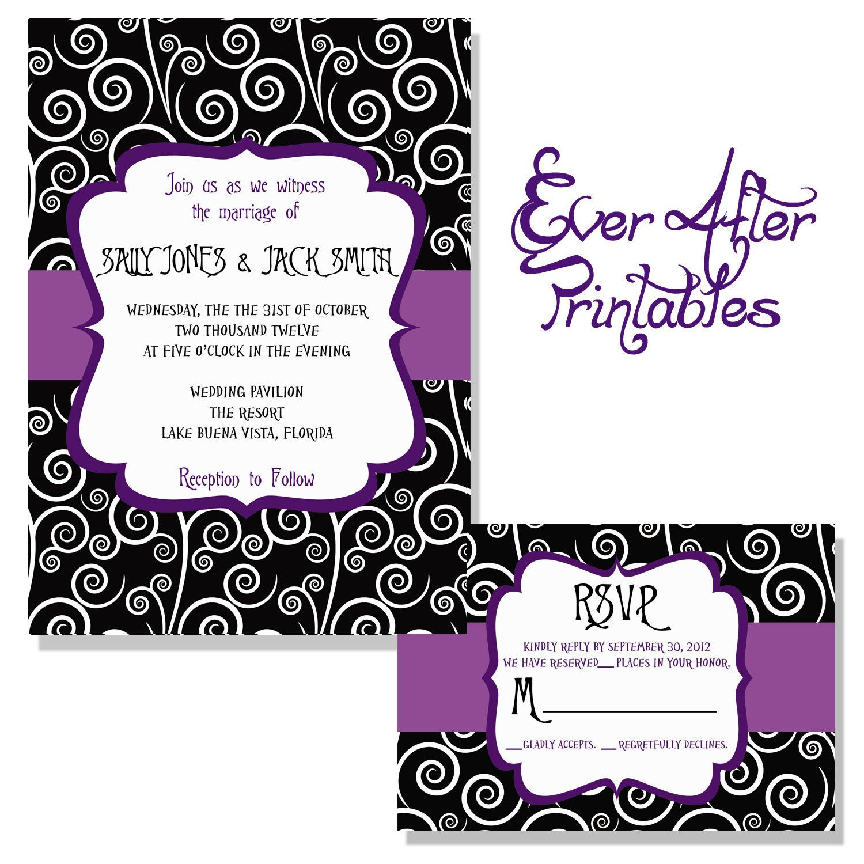 Nightmare Before Christmas Inspired Wedding Invitation | My Best ...