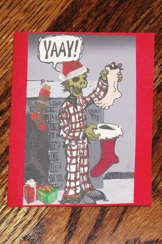 Zombie Christmas Card All Handmade