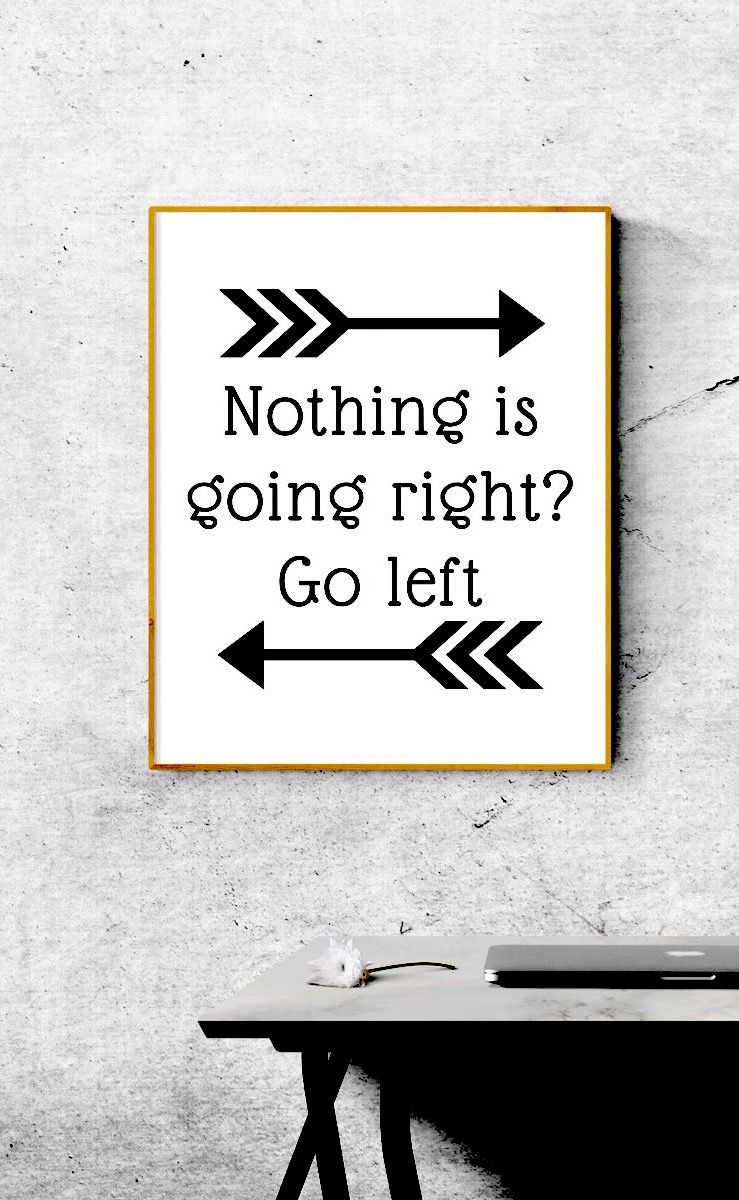 Funny Quote Wall Decor Pdf And Jpg Nothing Is Going Right Printable Wall Art Typography Wall Art Printable Art Trending Wall Decor In 2021 Funny Wall Art Quotes Arrow Wall Art