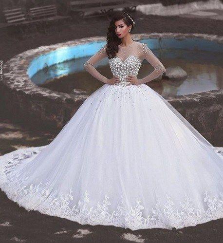 Long Sleeve Muslim Wedding Dress -dream weddings Australia wholesalers www.dreamweddingsaustralia.com.au