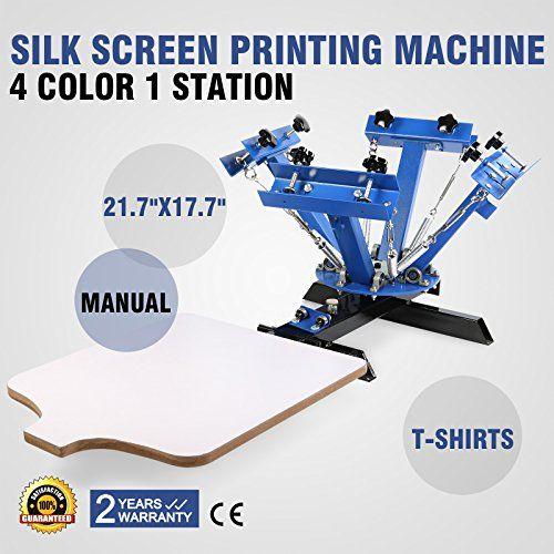 4 colores con 1 estaciónes Máquina De Impresión Wood Camiseta Pantalla Seda