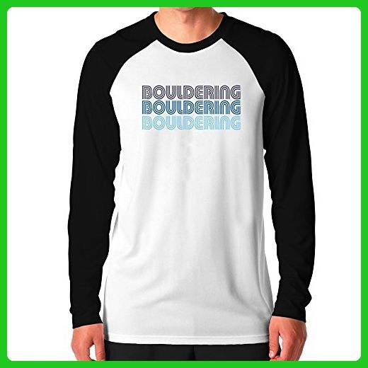 Teeburon Bouldering RETRO COLOR Raglan Long Sleeve T-Shirt - Retro shirts (*Amazon Partner-Link)