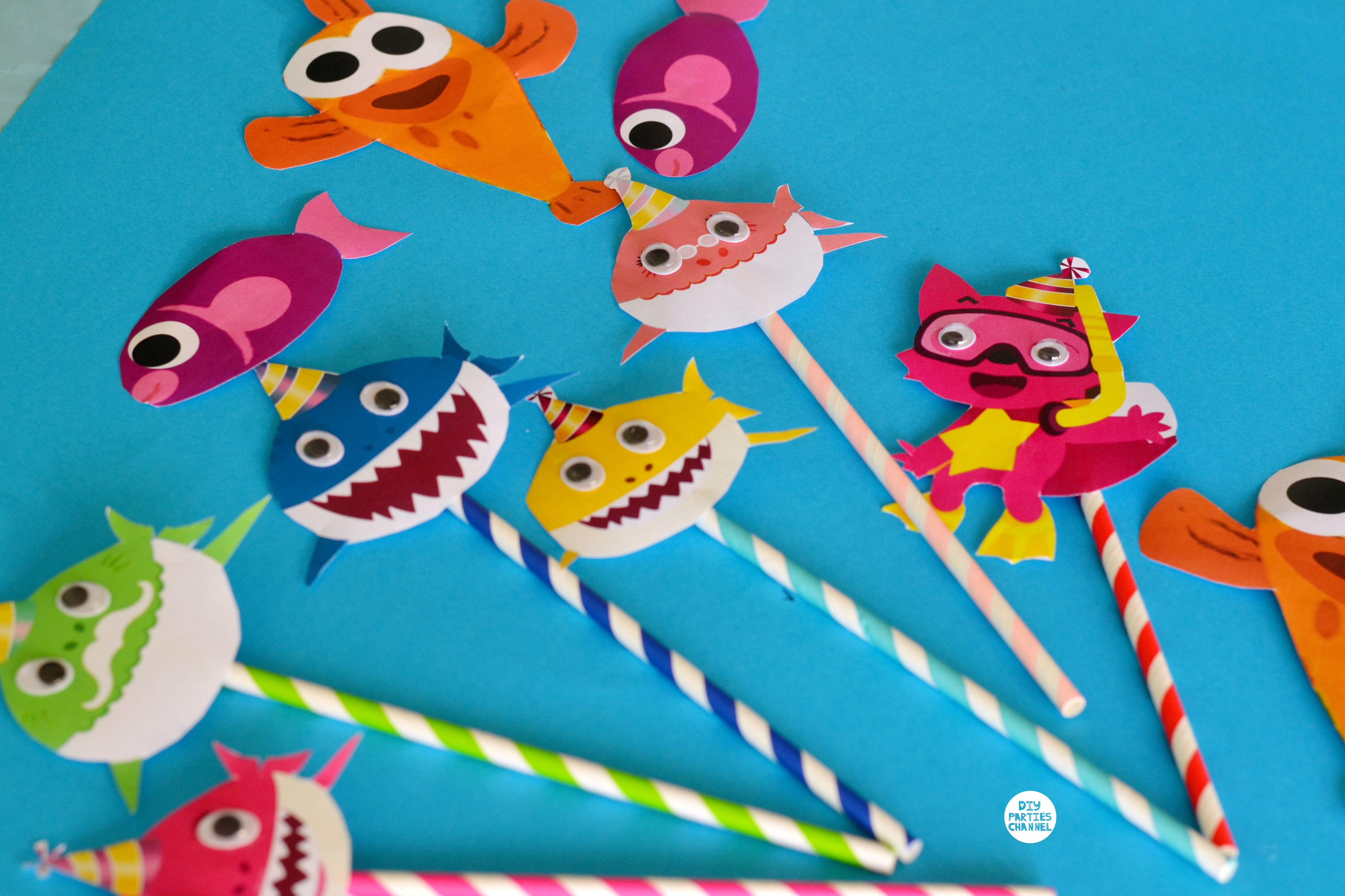 Diy Baby Shark Song Party Decoration Decor Crafts Under The Sea Kids Party Ideas Pinkfong D Baby Boy 1st Birthday Party Shark Party Decorations Baby Shark Song