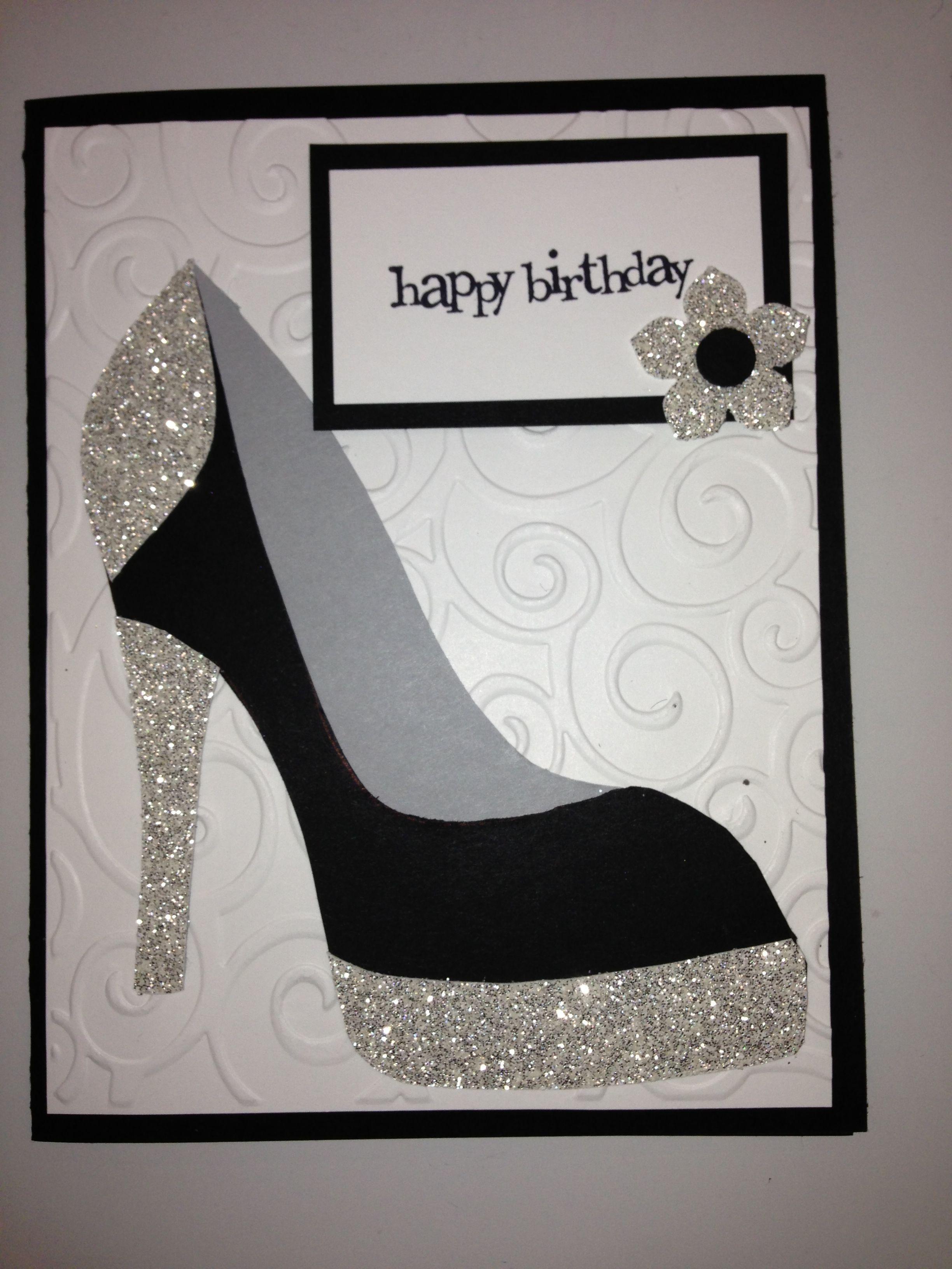 High Heel Shoe Card Birthday Tanya Bell S High Heel Shoe Pertaining To High Heel Template For Cards Birthday Cards Diy Shoe Template Birthday Cards For Women