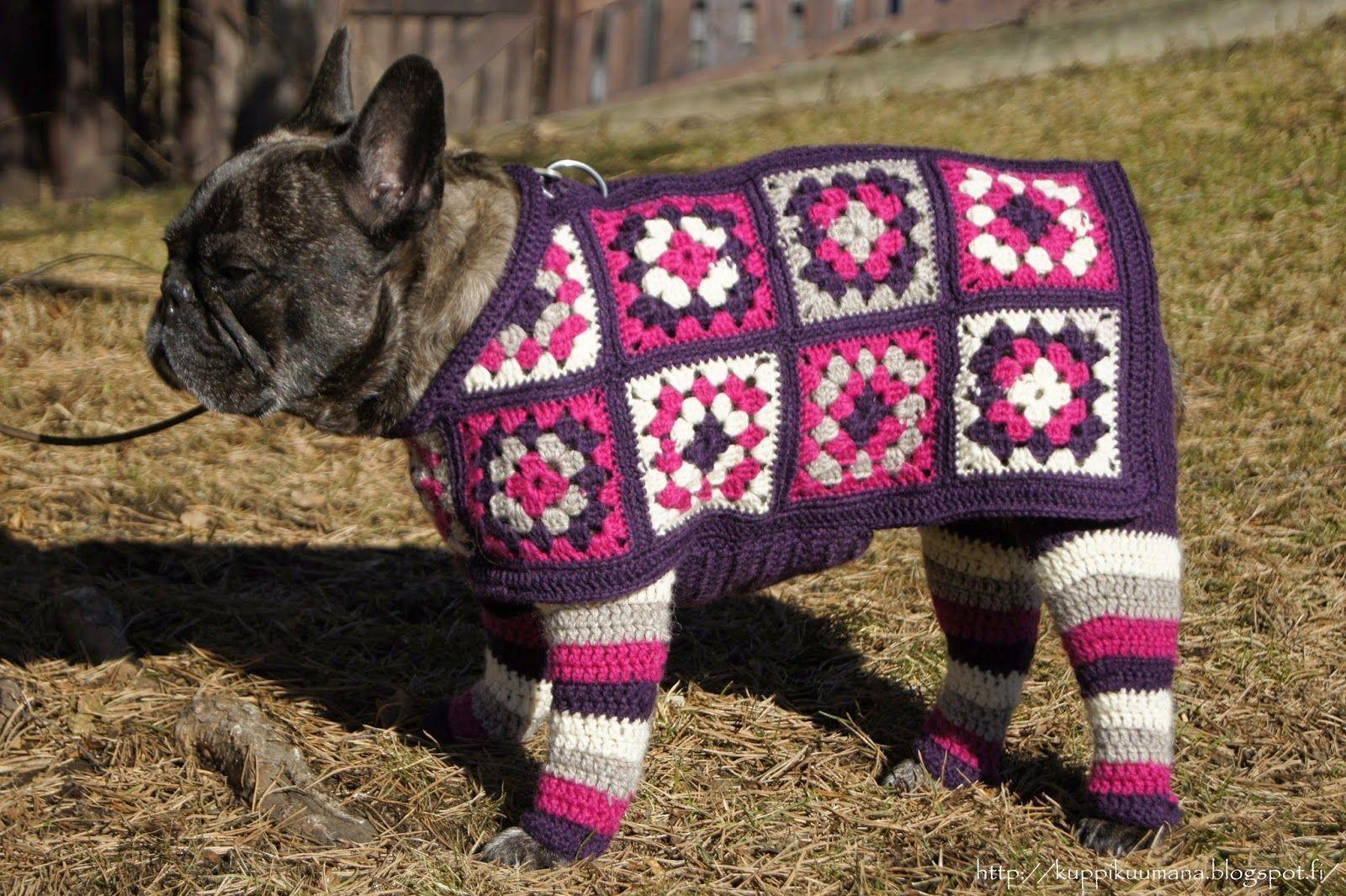 Koiran Saarystimet Ja Takki Knit Crochet Crochet Embroidered