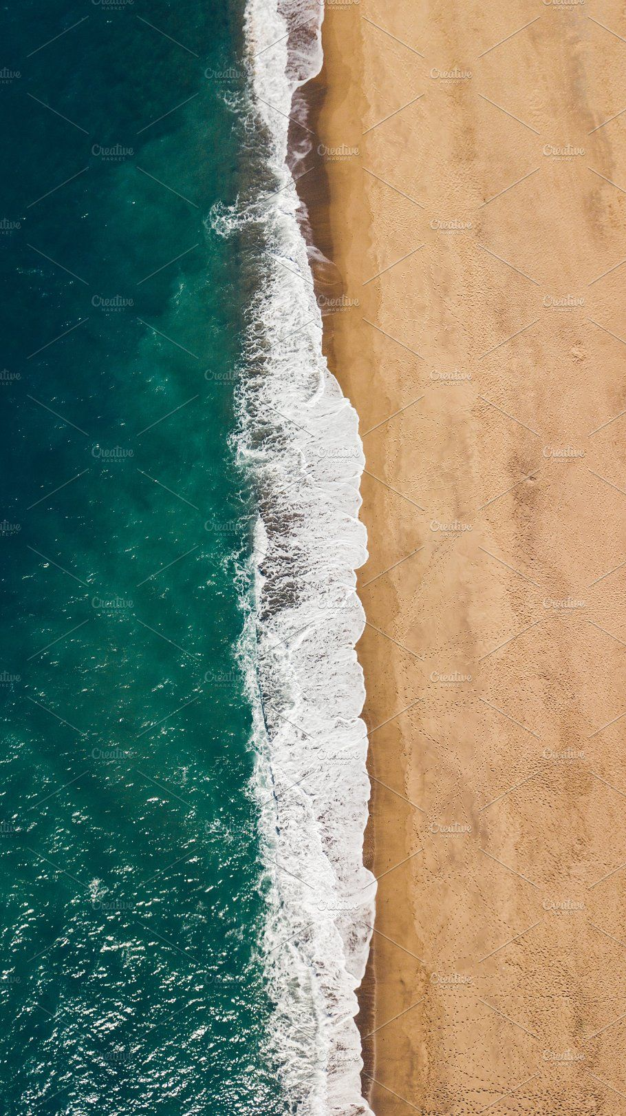 High Angle View Of The Beach Aerial Photography Drone Green Artwork Wallpaper Earth