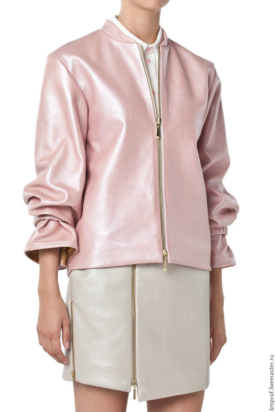 Soft pink leather jacket
