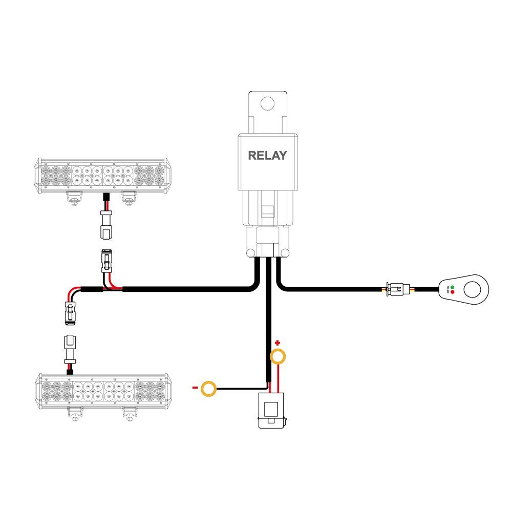 medium resolution of nilight 16awg dt connector wiring harness kit led light bar 12v on off switch power relay blade fuse for off road lights led work light 2 leads 2 years
