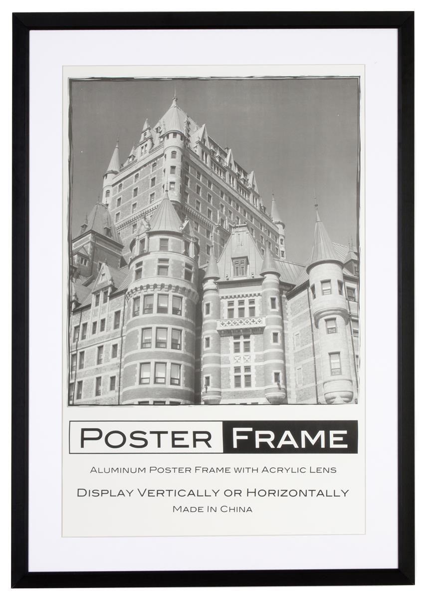 24 X 36 Poster Frame For Wall Rear Load 2 Matsblack White