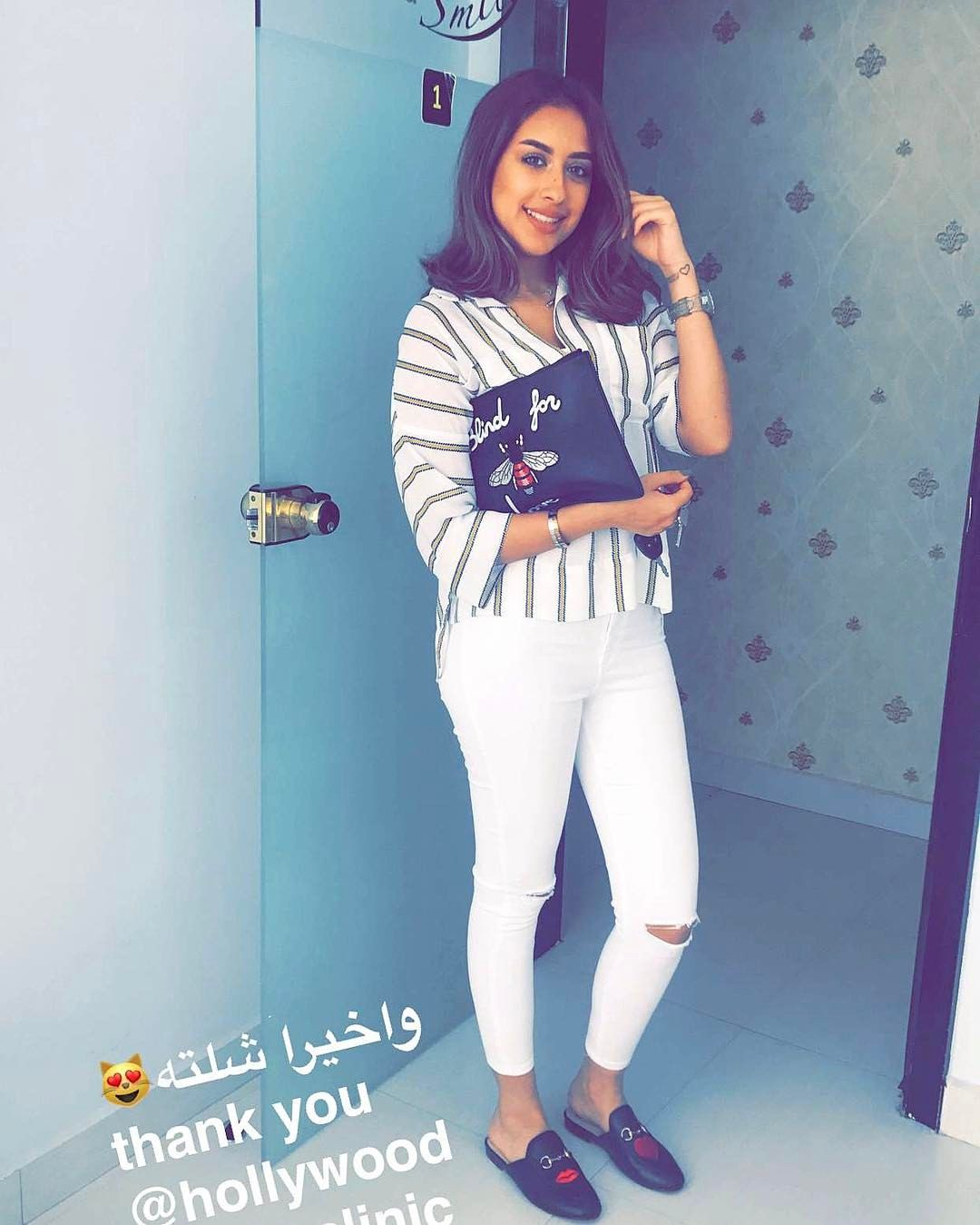 12 8k Likes 473 Comments فرح الهادي Farah Alhady On Instagram واخيرا شلت التقويم بعد سنتين ونص ثانكيو عيادة هوليوود سما Fashion Outfits Farah