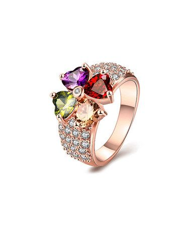 Another great find on zulily Green Cubic Zirconia Rose Gold