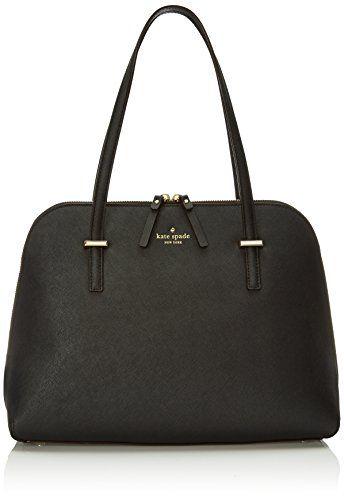 Kate Spade New York Shoulder Bag for Women On Sale, Black, Leather, 2017, one size