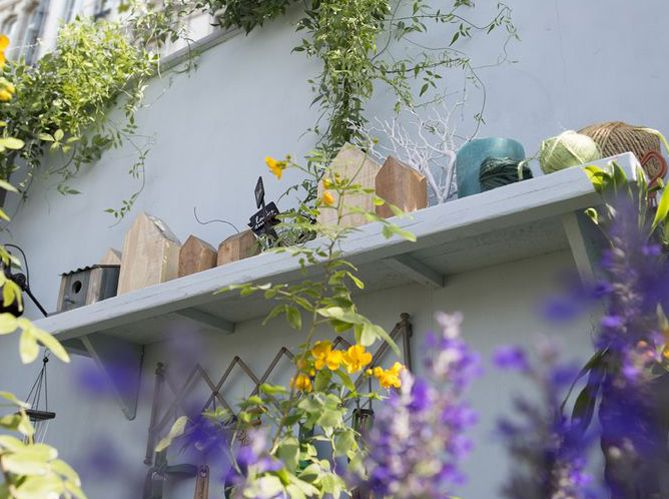 jardin #étagère #terrasse #bois #gris #déco #oiseaux | Idées brico ...