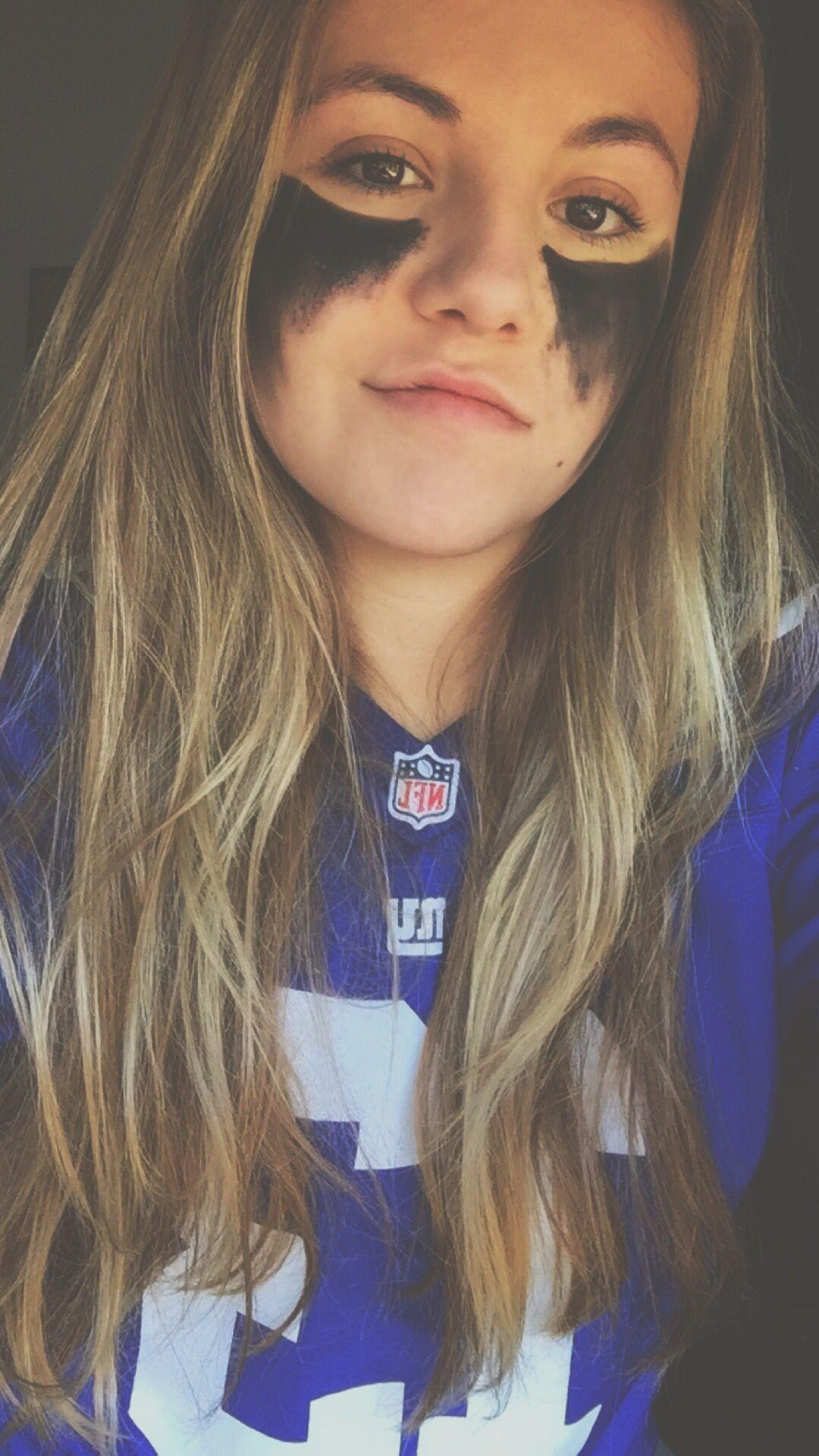 Football, face paint, Super Bowl … School spirit face
