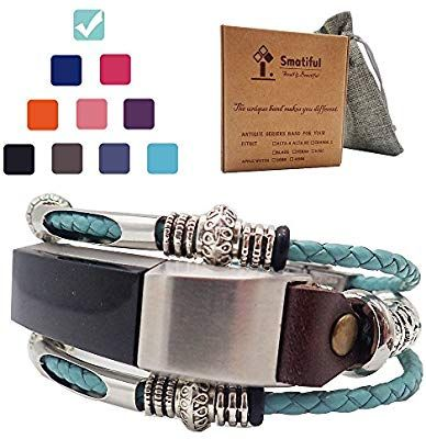 30d258e8a510a Smatiful Alta Jewellery Wristbands for Femme Women, Adjustable Replacement  Sport Leather Bands for Fitbit Alta HR Montre, Teal Green Aqua: Amazon.ca:  Sports ...