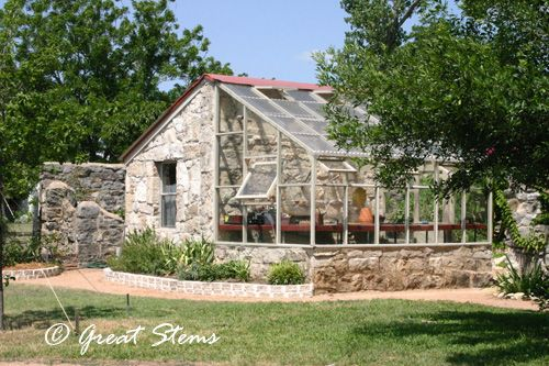 A Greenhouse Made Of Stone In Austin Tx Greenhouse Victorian