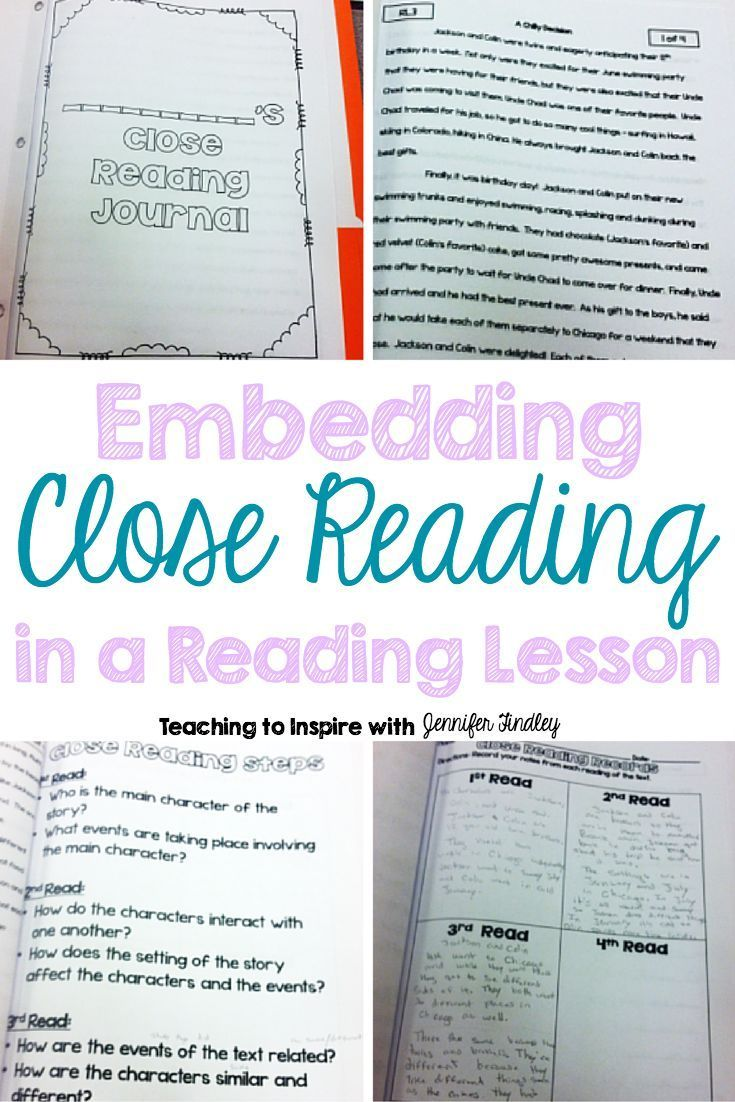 to Embed Close Reading in a Reading Lesson Want to learn how to embed close reading in your reading lesson? Read this post to read how one teacher embedding close reading of passages into a specific reading lesson.Want to learn how to embed close reading in your reading lesson? Read this post to read how one teacher embedding close reading of passages into a specific readin...
