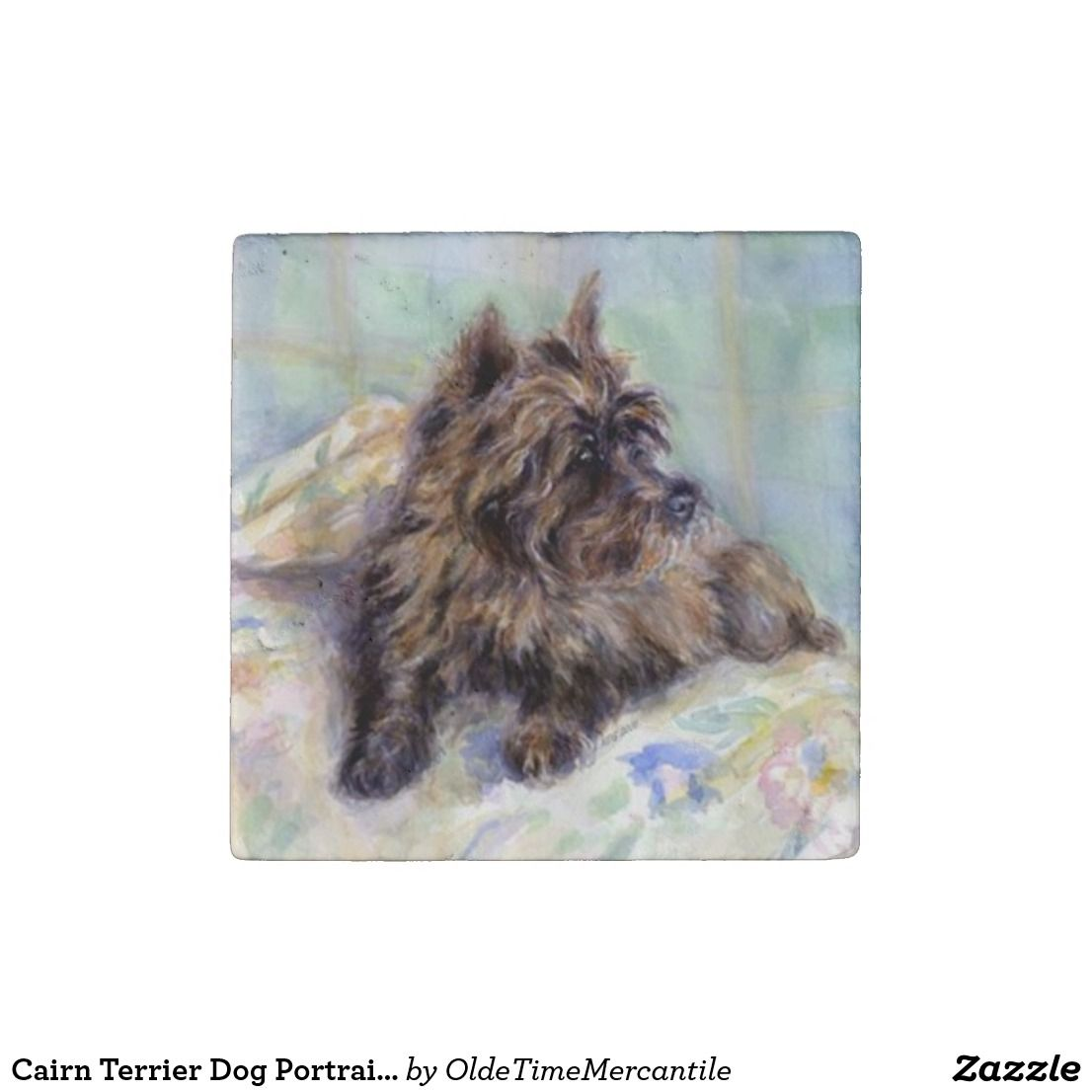 Create Your Own Stone Magnet Zazzle Com Dog Portraits Cairn