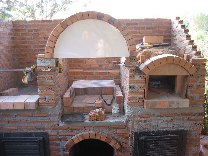 Pizza oven smoker grill combo ogr d pinterest for Outdoor kitchen smoker plans