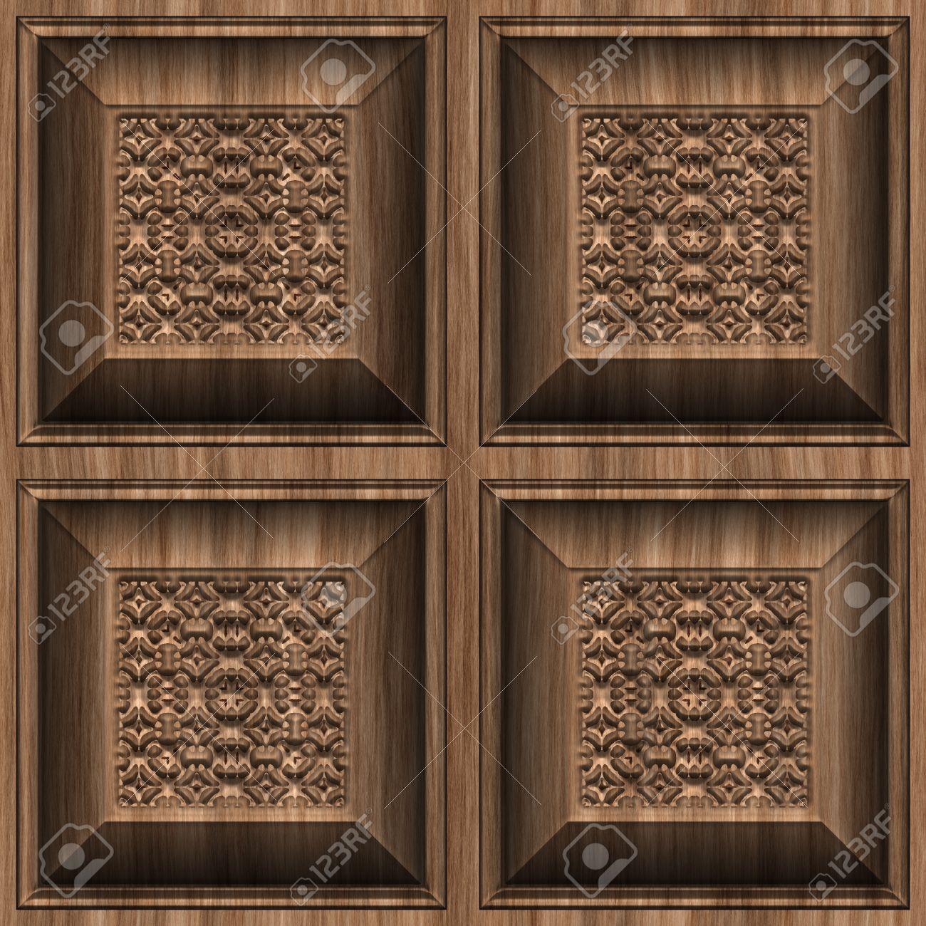 Interior wall texture seamless carvedwoodseamlesstexturetilestockphotog