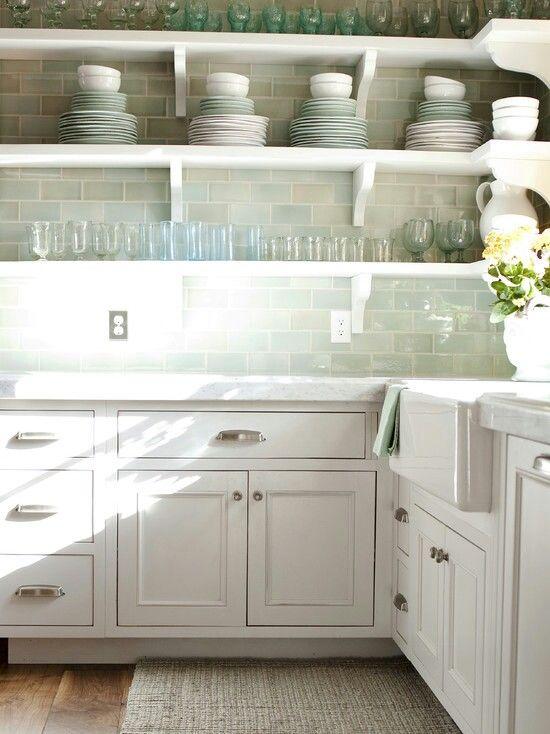 clean sleek kitchen w open shelves instead of cabinets on kitchen shelves instead of cabinets id=20134